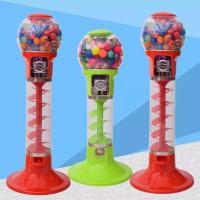 Buy cheap PC / ABS Metal Material 1 Player Spiral Gumball Machine For Shopping Mall from wholesalers