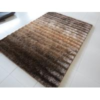 China Soft Shade Color Line Design 3D Polyester Shaggy Rug(3229) on sale