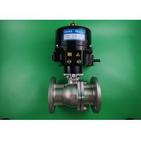 Water Powered Two Way Ball Valve Stainless Steel 316L Automatic ON OFF Manufactures