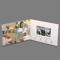 Cheap OEM Thinnest LCD Video Brochure Card , Touch Screen Video Greeting Card for sale