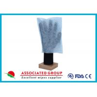 100% Polyester Paper Park Dry Body Cleaning Gloves 35GSM Square Shape Manufactures