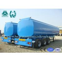 Customized 3 Axle Fuel Tank Semi Trailer  55 Tons - 75 Tons Large Capacity