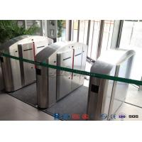 TCP / IP Flap Turnstile Security Gate Access Control Wheelchair Lanes For Subway Doors