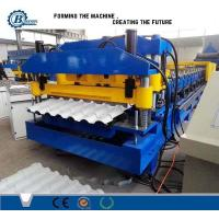 Classical Type High Speed Glazed Tile Roll Forming Machine With Hydraulic Pressing Device Manufactures