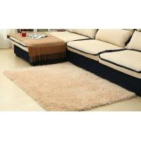 Modern Plain 100% Polyester Shag Rug For Bedroom / Meeting Room Manufactures