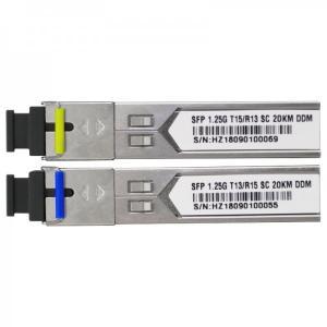 1.25G Bidi Fiber Optic SFP Module SC Connector 20Km Gigabit Optical Transceiver Manufactures