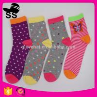 2017 knitted Keep Warm 69% Cotton 25 % Polyester 6%Spandex 30g Sweet Wholesale Hosiery Winter Long Stockings Socks Manufactures