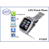 PT202F Fashionable Real Time Wireless GPS Wrist Watch Tracker with 1.3MP Camera + Bluetooth + FM+ MP3 Manufactures