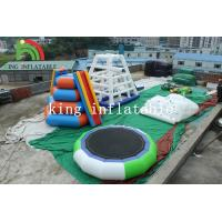 China 5m D Green / White Inflatable Trampoline PVC Inflatable Water Toy For Adults on sale
