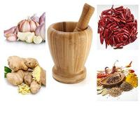 bamboo mortar and pestle mortar using for garlic with wholesale price Manufactures