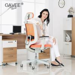 Height Adjustable Ergonomic Task Chair White / Black Back Frame For Office Manufactures