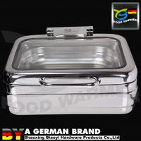China 370x370x140mm Stainless Steel Chafing Dish With Unique Machanical Hinge For Induction Cooker on sale