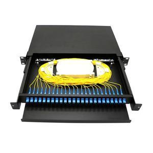 19 Inch Fiber Optic Distribution Box Sliding Fiber Optic Patch Panel Rack Mount Manufactures