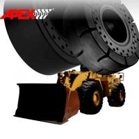 APEX 16.00-25 Solid Tire, Cushion Tyre for Wheel Loader, Integrated Tool Carrier, Elevating Motor Scraper Manufactures