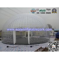 Event  Transparent Bubble Tent For Bar , Inflatable Large Dome Tent Manufactures