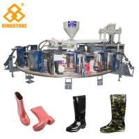 12 Stations 1/2 color Boot Injection Molding Machine , Gumboots Making Machine  Manufactures