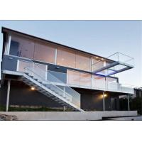 Side Mounted Glass Balustrade , Standoff Glass Railing System For Outdoor Manufactures