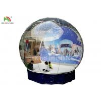 Human Size Inflatable Snow Ball Clear 0.8 mm PVC  Globe Photo Taking EN14960 Manufactures