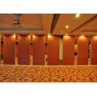 Quality Red Plaster Move Walls Wooden Partition In Living Room For Conference Rooms wholesale