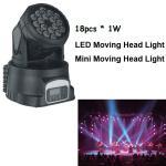 18pcs 3w lighting moving heads,led rgb dmx mini moving head,moving head wash light QM-003 Manufactures