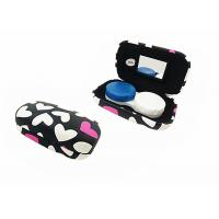 Heart Pattern Iron Contact Lens Travel Case Lovely Suitable For Women / Youth