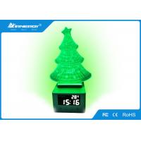 Alarm Clock Gift Bluetooth Speaker With 7 Color LED Light , Pattern Customized