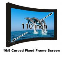 Full New 160 Degree View Angle 110inch Curved Fixed Frame DIY 3D Projector Screens Manufactures