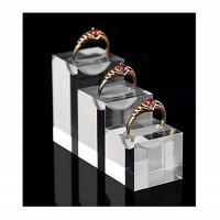 Durable Acrylic Jewelry Display , Modern Clear Glass Unique Ring Holder Manufactures
