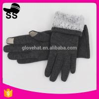 Polyester Thick Fleece Custom Logo Winter Warm Cheap Stretch Touch Screen Smart Finger Girls Magic Knitting Gloves Manufactures