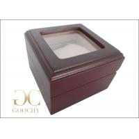 Engraved Wooden Watch Box / Wooden Watch Box With Glass Top Manufactures