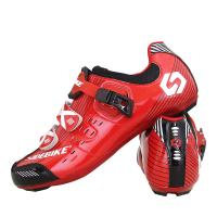 Adjustable Buckle Road Racing Bicycle Shoes , Mens Road Cycling Shoes Moistureproof Manufactures