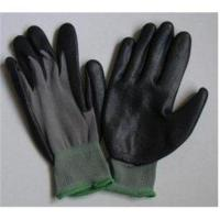China Knitted Seamless Grey Nylon Liner Protective Hand Gloves With Black Nitrile Coated on sale