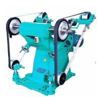 Big Power Sand Belt Grinding And Polish Machine With Two Cloth Wheel Manufactures