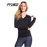 China New Arrival Womens Lacoste Fashion V-neck Sweater Pure Wool on sale