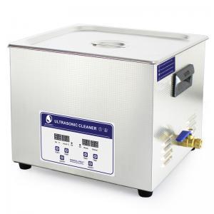 15L Heater Adjustable Benchtop Ultrasonic Cleaner , Paint Air brush Ultrasonic Cleaner Bath