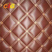 Waterproof PVC Artificial Leather Fabric Quilted Tear Resistant For Car Manufactures