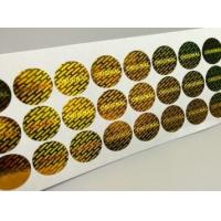 Gloss Lamination Security Sticker Labels , Custom Size Security Seal Stickers Manufactures