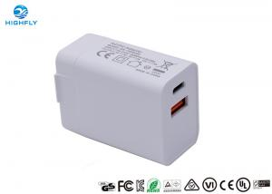 Dual USB Travel Type C PD Qualcomm Wall Power Adapter Charger Manufactures