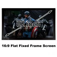 Durable Multimedia Cinema Screen 92 Inch Diagonal 16 To 9 Format Flat Fixed Frame Screens Manufactures