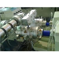 Rainwater Drainage PVC Twin Pipe Extrusion Machine , PP PE PVC Twin Pipe Production Line Manufactures