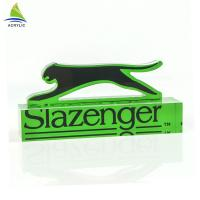 Buy cheap Eco - Friendly Acrylic Sign Display Holder Clear Solid Engraved Acrylic Logo from wholesalers