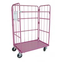 Metallic Folding Roll Cage Trolley Bright Electro Zinc Plated Finish Manufactures