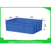 Euro Industrial Storage Bins , Large Plastic Containers Cold Chain Moisture 43L Manufactures