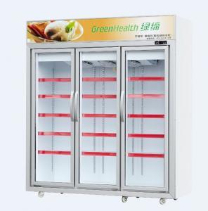 -18 ~ 22℃ Ice Cream Display Freezer With Glass Door For Supermarket Manufactures