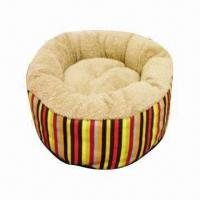 China Deluxe cube pet bed, made of soft denim and quilted fleece, for the nest loving pet on sale