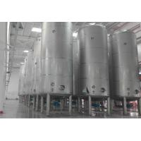 Cheap 50 ton large capacity Milk Storage Tanks outer door use / large factory use for sale