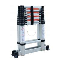 Silver A Frame 25ft Aluminium Telescopic Ladder Manufactures