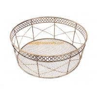 China Factory Price Direct Mesh Design Round Metal Trays For Home and  Hotel Use Manufactures