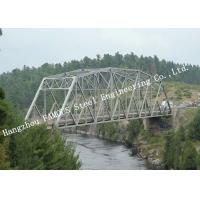 Prefabricated Delta Assembly Modular Steel Truss Bridge With Concrete Deck High Stiffness Manufactures