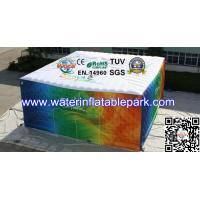China Commercial Printed  Inflatable Cube Tent With Logo / Inflatable Structure Tent on sale